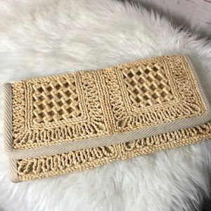 1950s Epitome Wicker Clutch Made in Italy